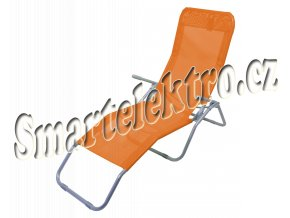 Lehátko kempingové skládací PALERMO oranžové