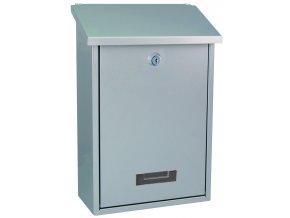 Schránka poštovní ocel stříbrná - 210x300x60 mm s vrchním vhozem