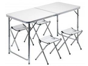 Stůl kemping Cattara DOUBLE 13488 + 4x židlička