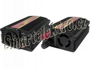 CARSPA 12V/230V+USB 300W měnič napětí CAR300U-12