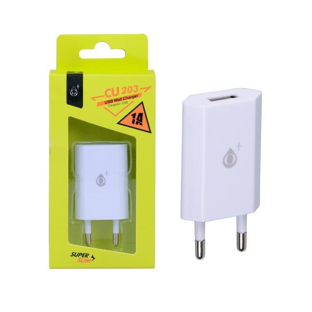 Nabíječka PLUS CU203 ultraMINI s USB výstupem 5V/1A, bílá
