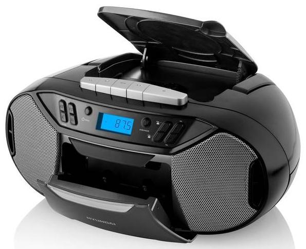 Radiomagnetofon Hyundai TRC 333 AU3 BT B s CD/MP3/USB, Bluetooth, černý