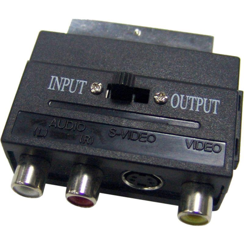 Redukce SCART-3CINCH+S-VIDEO adaptér