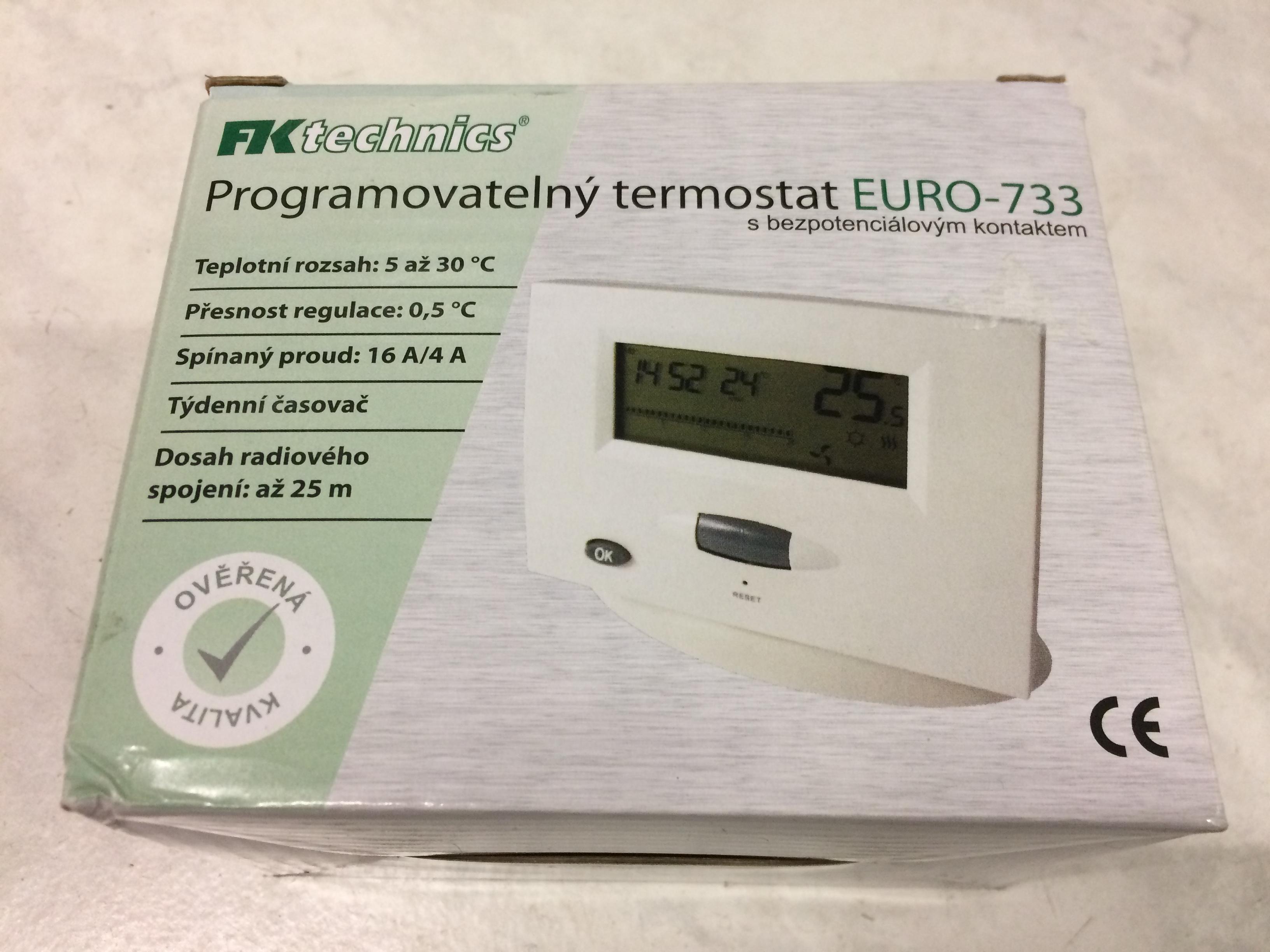 Pokojový termostat digitální EURO-733