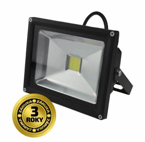 Solight LED reflektor, 20W, 1400lm, AC 230V, černá