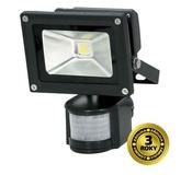 LED venkovní reflektor, 10W, 700lm, AC 230V, černá, se senzorem WM-10WS-E