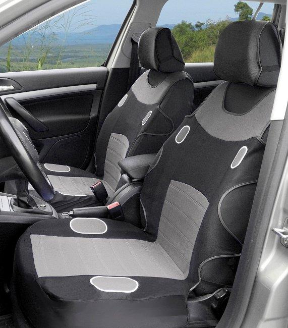 Autopotahy - LAS VEGAS, šedé (Universální potahy do auta)