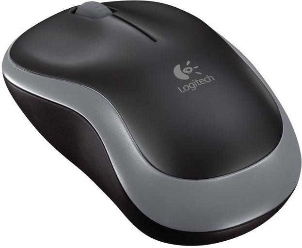 Logitech Wireless Mouse M185 Red (910-002240) Barva: černo-stříbrná
