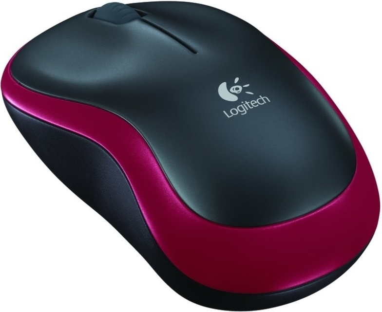 Logitech Wireless Mouse M185 Red (910-002240) Barva: stříbrná