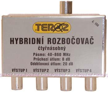 Anténní rozbočovač TEROZ T 106 hybrid