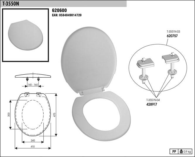 Sedátko WC T 3550 N bílé
