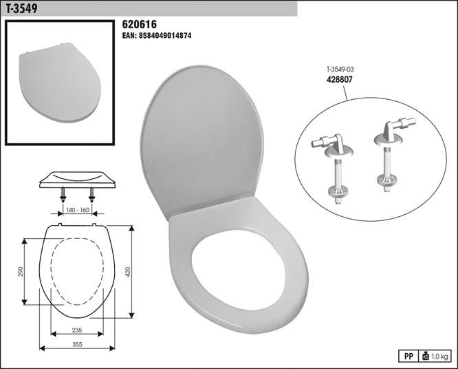 Sedátko WC T3549 B