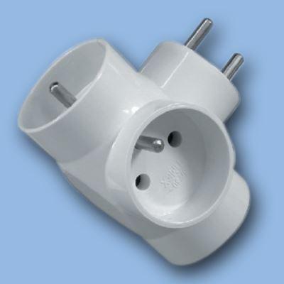 Instalační rozdvojka 3x10A bílá R31