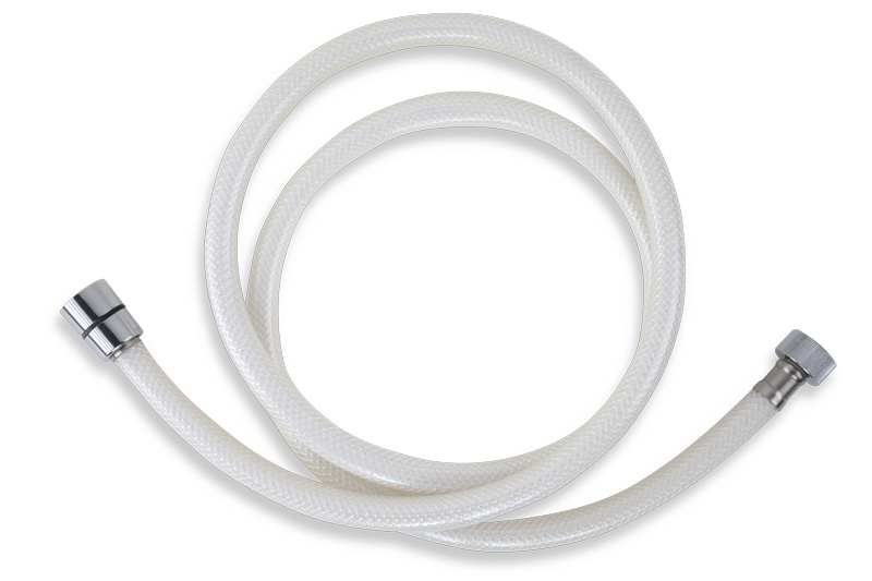 Novaservis Plastová hadice 150 cm bílá-chrom PVC/155.1