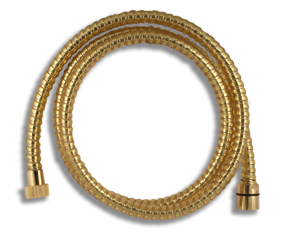 Novaservis Sprchové hadice - Sprchová hadice plastová 150 cm, zlato SPIRAL/150,ZL