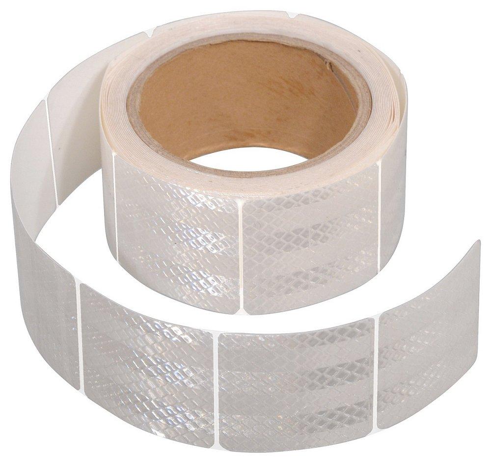 Samolepící páska reflexní dělená 5m x 5cm bílá (role 5m)
