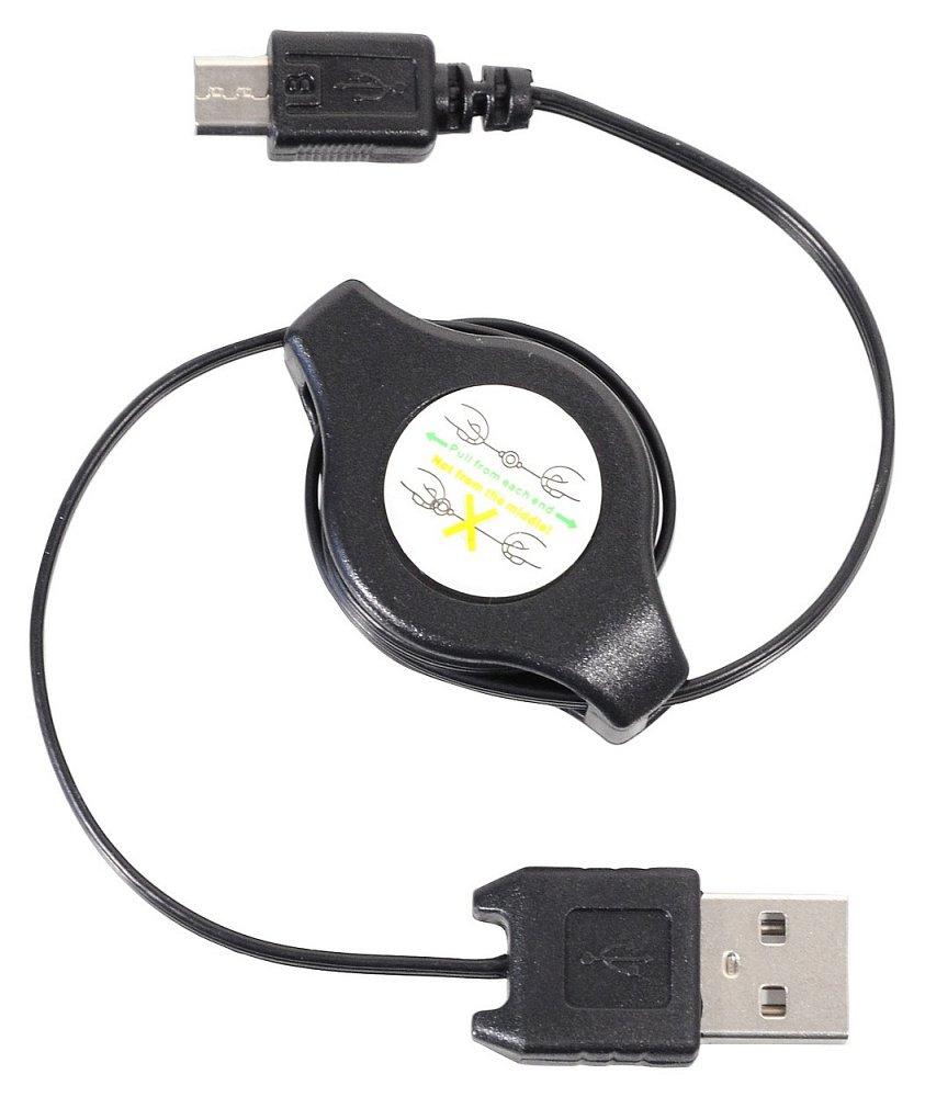 Nabíječka telefonu USB - MICRO USB navíjecí