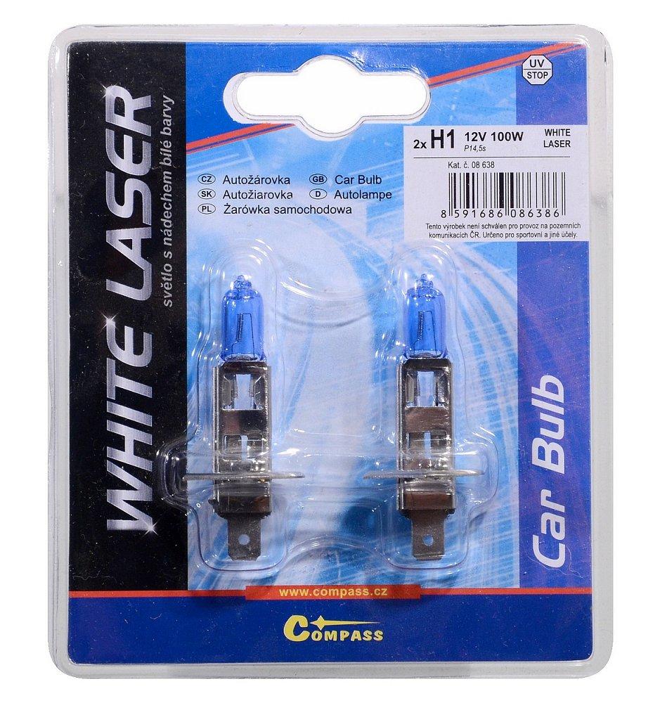 Žárovka 12V H1 100W P14,5s WHITE LASER blister 2ks