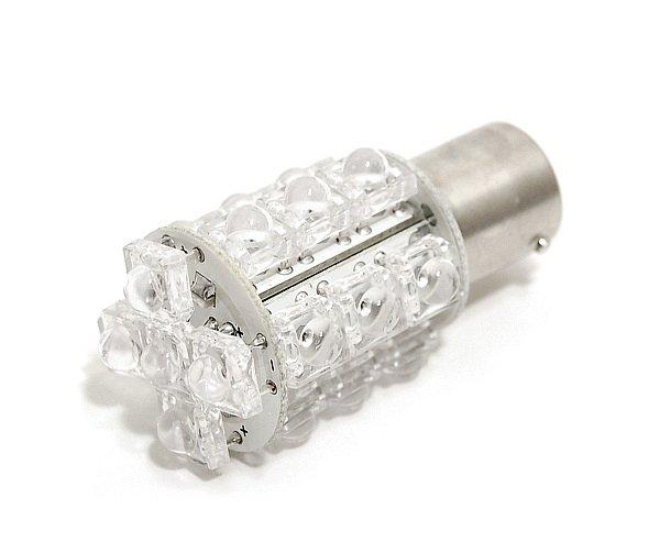 Žárovka 20 SUPER LED 12V BaY15d červená