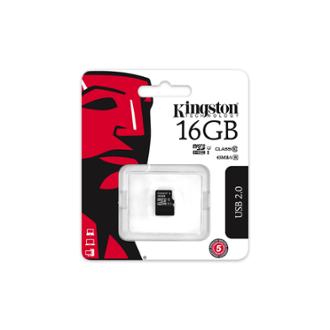 Paměťová karta Kingston MicroSDHC 16GB Class10