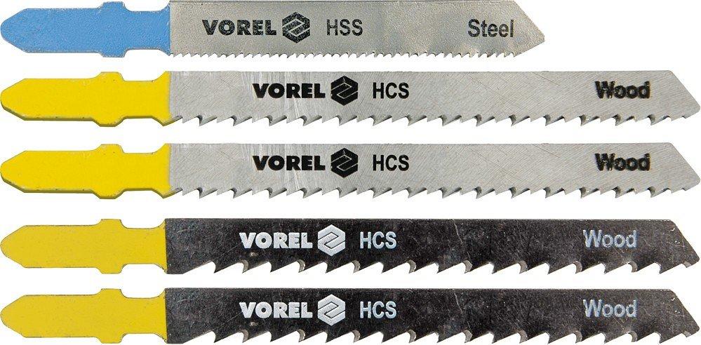 List do přímočaré pily 100/75 mm, 76/50 mm,dřevo,plast,železo 5ks