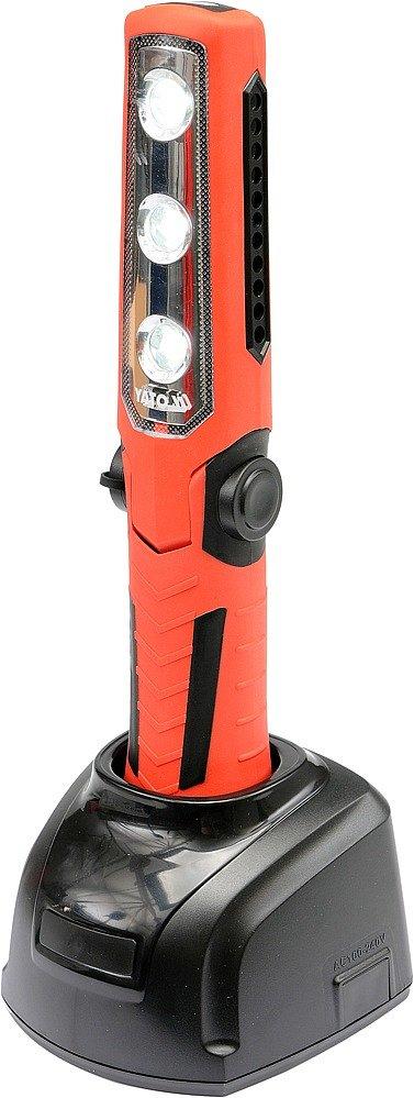 Lampa montážní 3+1 LED, bezpřívodová, 3,7V Li-ion, magnet+hák, 250lm