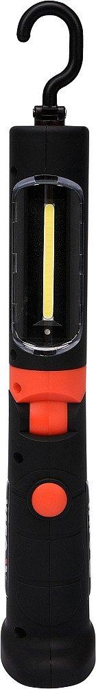 Lampa montážní 3W COB LED, bezpřívodová, 3,7V li-ion, magnet+hák, 250lm