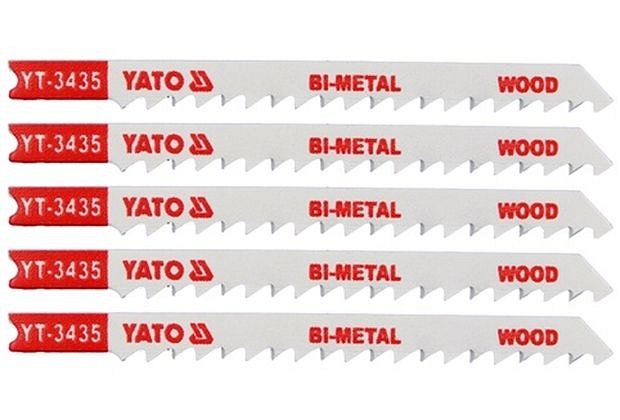 List pilový do přímočaré pily 100 mm na dřevo TPI6 5 ks Bi-Metal