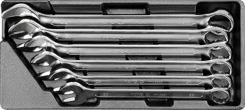 Vložka do zásuvky - klíče očkoploché 22-32mm, 6ks