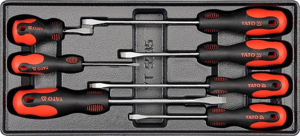 Vložka do zásuvky - šroubováky ploché 7ks