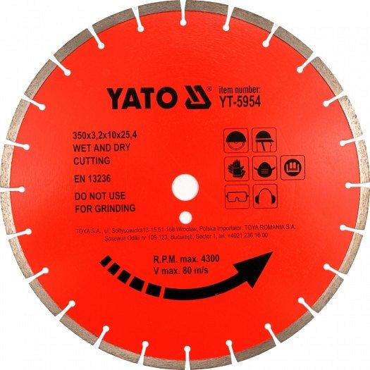 Kotouč diamantový 450 x 25,4 x 3,8 mm červený