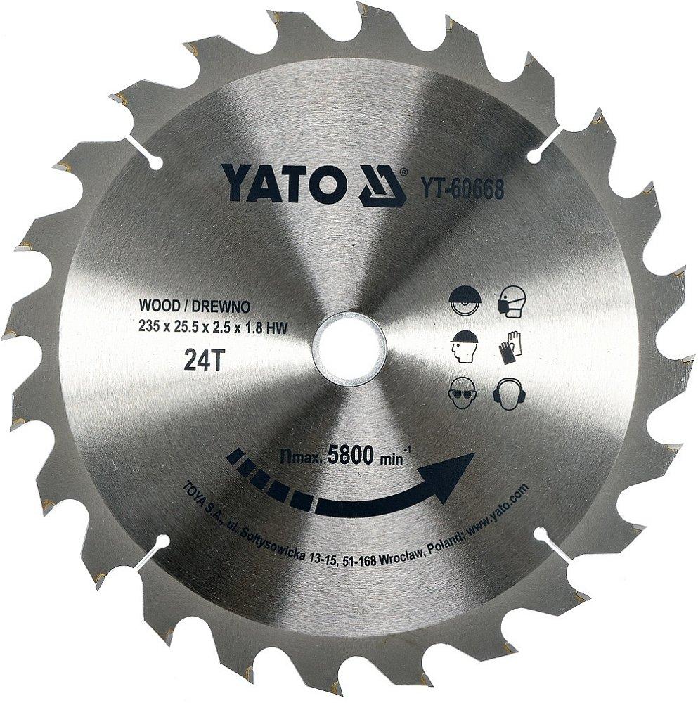 Kotouč na dřevo 235 x 25,5 mm 24z (pro YT-82153)