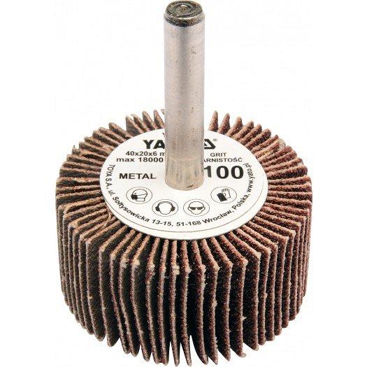Kotouč lamelový radiální 40x20 P-60 s hřídelí 6 mm
