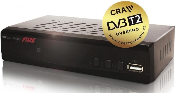 DVB-T příjímač Zircon FIRE DVB-T2 HEVC