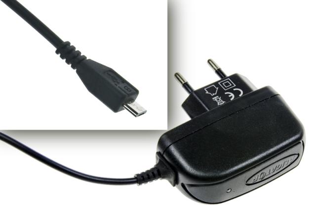 Nabíječka ALIGATOR microUSB 1A, Turbo charge, černá