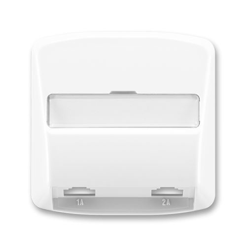 TANGO 5013A-A00215 B kryt zásuvky telefonní s 2 otvory, bílý, ABB