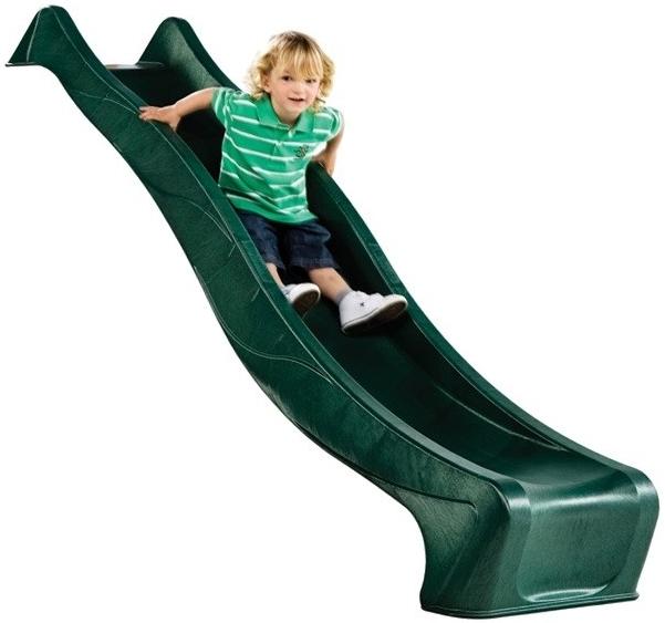 Monkey's Home Skluzavka plastová 2,9 m s přípojkou na vodu zelená Barva: zelená