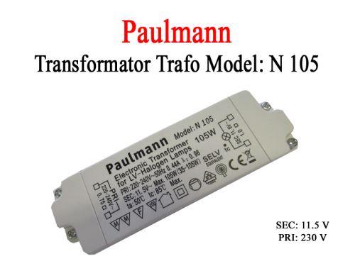 Paulmann elektronický halogenový transformátor 105W 230-240V 50/60Hz