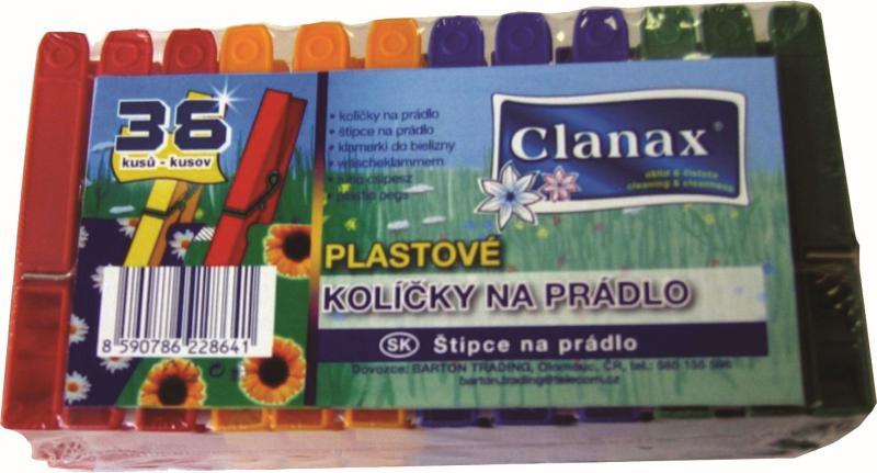 Kolíčky na prádlo 36 ks plast