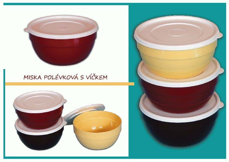 Miska polévková 13x7 cm/700 ml plastové víčko