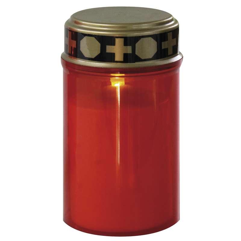 Hřbitovní svíčka červená LED P4601