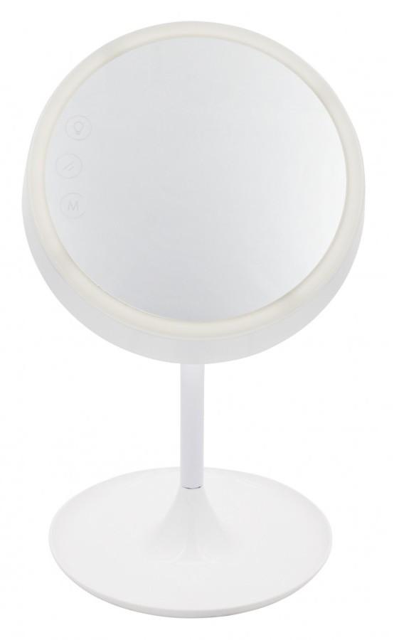 NILSEN LED stolní lampa se zrcadlem DREAM dotyková, stmívatelná, 6,4W, volba teploty světla, bílá PX033