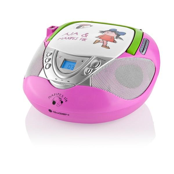 Radiopřijímač s CD GoGEN Maxipes Fík MAXI RADIO P, CD/MP3/USB růžový Barva: růžová