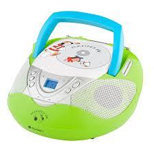 Radiopřijímač s CD GoGEN Maxipes Fík MAXI RADIO P, CD/MP3/USB růžový Barva: bílo-zelená