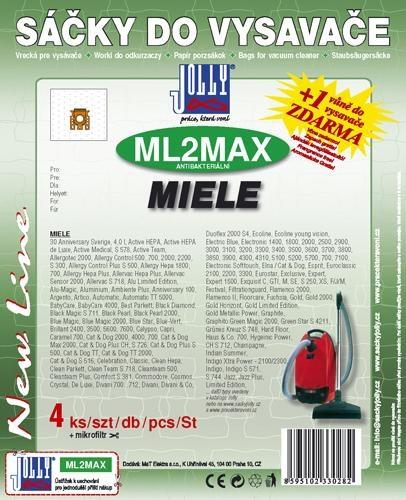 Sáčky do vysavače Jolly MAX ML 2 do vysav. MIELE S246i, S256i