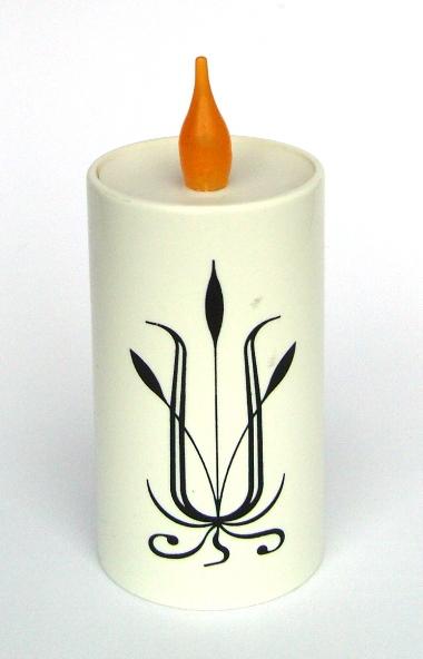 Svíčka dekor smuteční/vánoční DAYMOON 90510H bílá