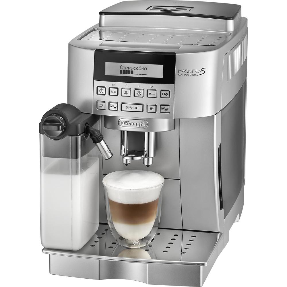 Espresso DeLonghi ECAM 22.360.S + DéLonghi Espresso Classic zrnková káva 1kg zdarma