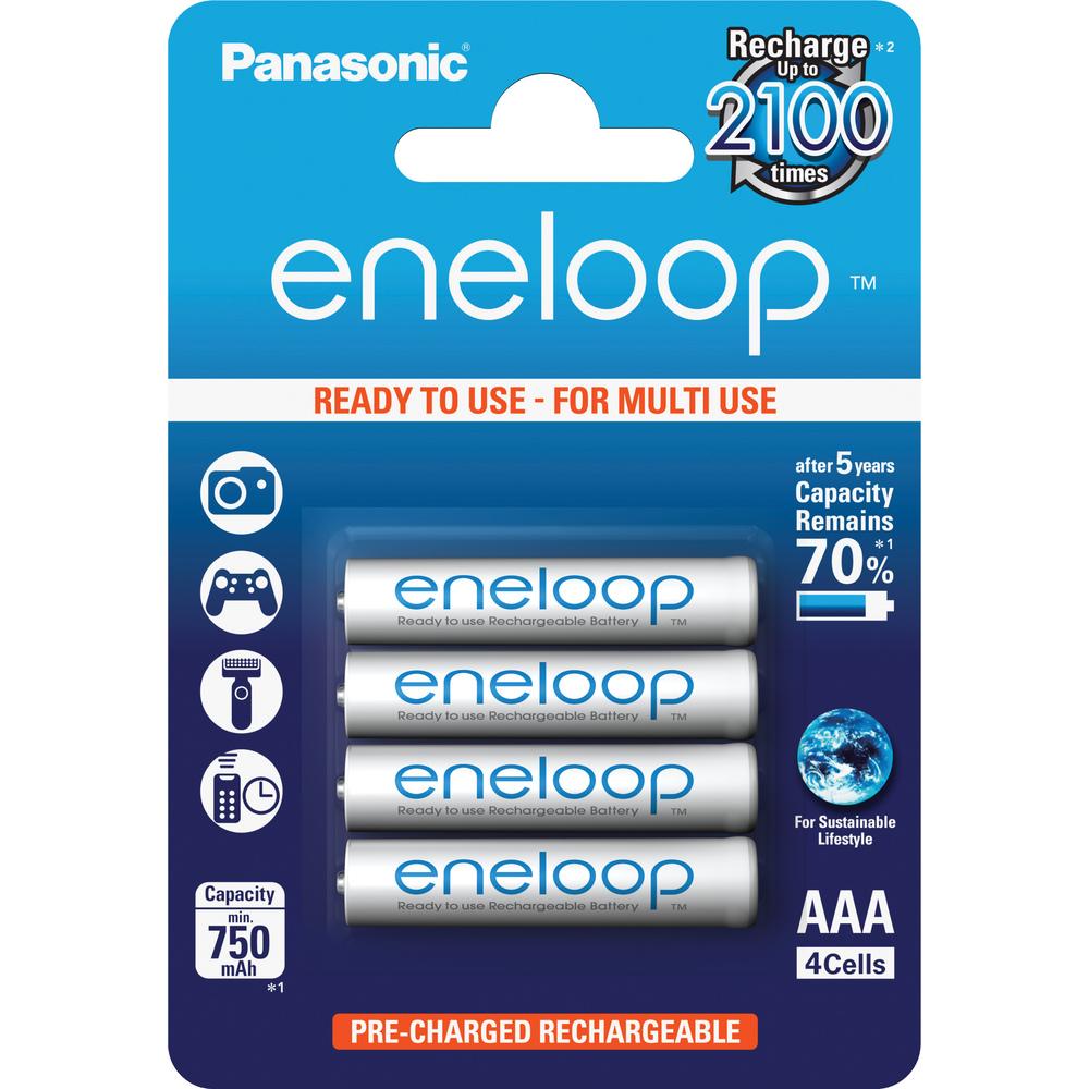 ENELOOP AAA 4x 750 PANASONIC 4MCCE/4BE nabíjecí