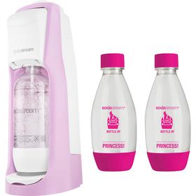 SodaStream Jet růžová + 2ks dětská lahev + ZDARMA sirup Jahoda 500 ml