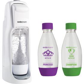 SodaStream Jet White + 2ks dětská lahev + ZDARMA sirup Jahoda 500 ml